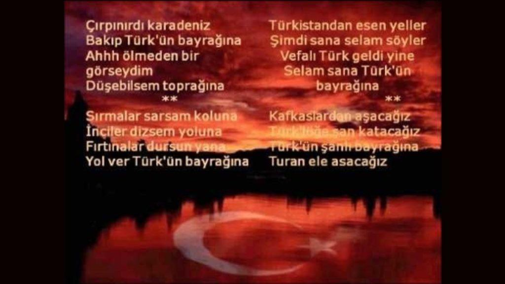 Çırpınırdı Karadeniz, Bakıp Türk'ün Bayrağına