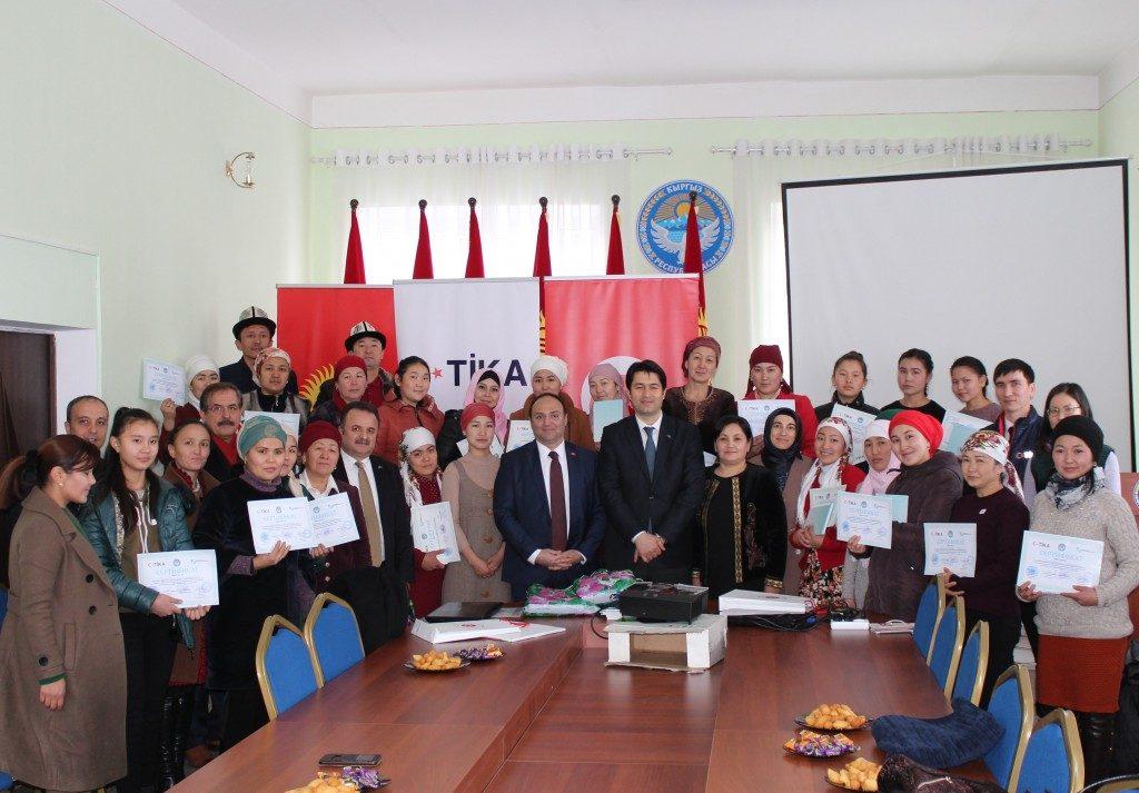 TİKA'dan Kırgızistan'da Kadın İstihdamına Destek