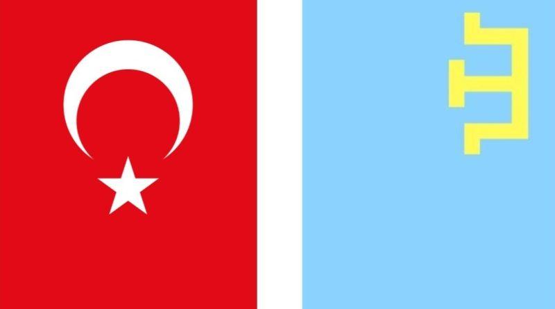 kırım tatar bayrak - türk bayrağı