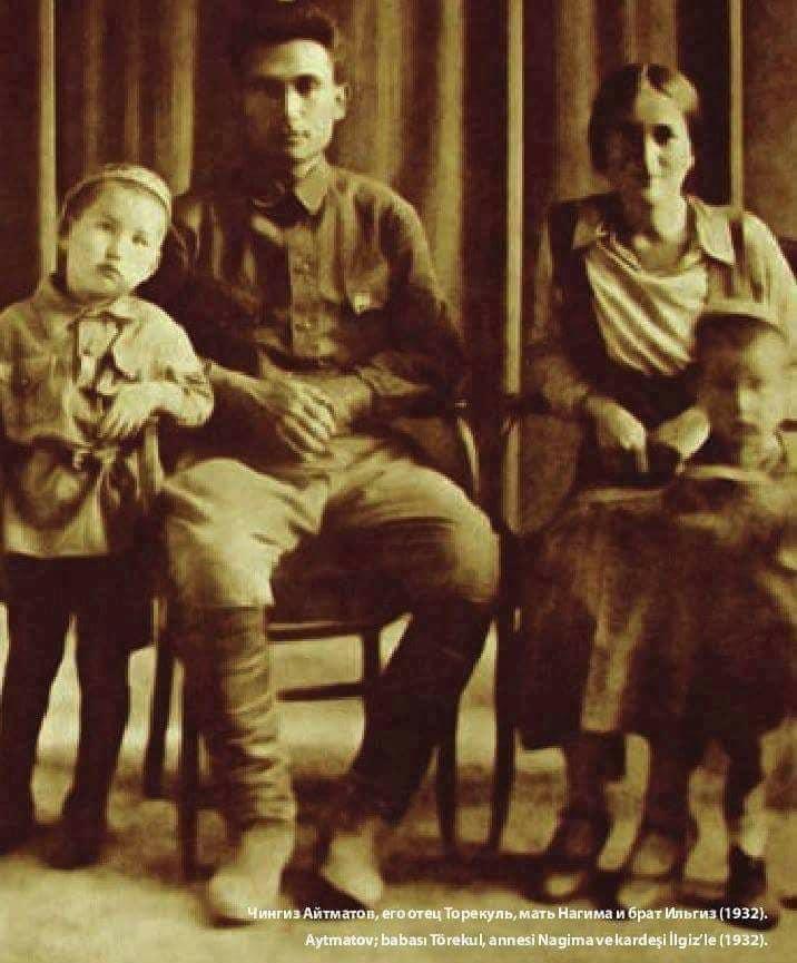 Cengiz Aytmatov, babası Törekul Aytmatov, annesi Nagima aytmatov kardeşi İlgiz aytmatov