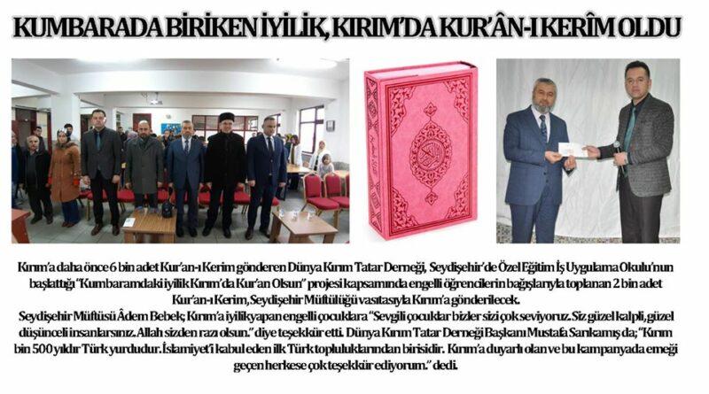 Kumbaramdaki iyilik Kırım'da Kur'an Olsun